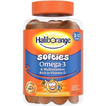 Seven Seas Haliborange Omega-3 and Multivitamins Orange 60 Orange Softies