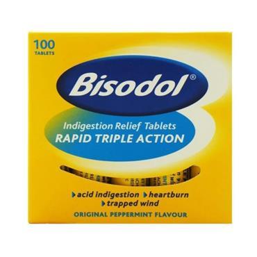 Bisodol Antacid Chewable Tablets 100 Tablets
