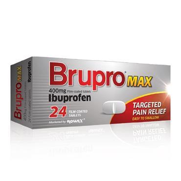Brupro Max Ibuprofen 400mg 24 Tablets