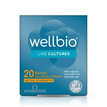 Vitabiotics Wellbio 25 billion Live Cultures Extra Strength 30 Capsules