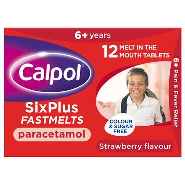 Calpol Sixplus Fastmelts 12s