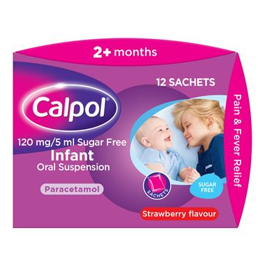 Calpol Sugar Free Infant Suspension 12 Sachets