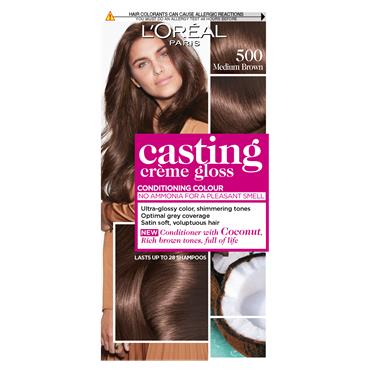 L'Oreal Paris Casting Creme Gloss 500 Medium Brown Semi Permanent Hair Dye