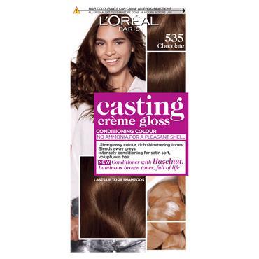 L'Oreal Paris Casting Creme Gloss 535 Chocolate Brown Semi Permanent Hair Dye