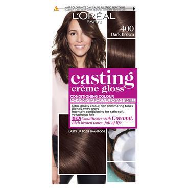 L'Oreal Paris Casting Creme Gloss 400 Dark Brown Semi Permanent Hair Dye