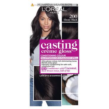 L'Oreal Paris Casting Creme Gloss 200 Ebony Black Semi Permanent Hair Dye