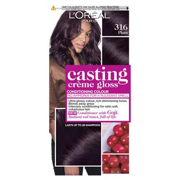L'Oreal Paris Casting Creme Gloss 316 Plum Brown Semi Permanent Hair Dye