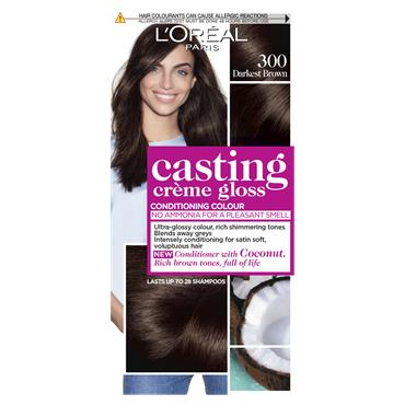 L'Oreal Paris Casting Creme Gloss 300 Darkest Brown Semi Permanent Hair Dye