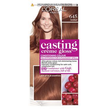 L'Oreal Paris Casting Creme Gloss 645 Amber Red Semi Permanent Hair Dye
