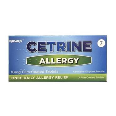 Cetrine Allergy Tablets 7s