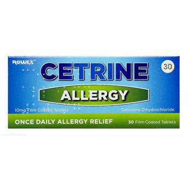 Cetrine Allergy Tablets 30s