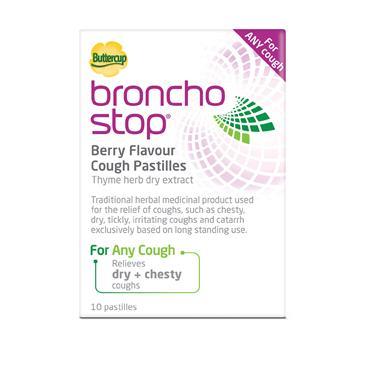 BronchoStop Berry Flavour Cough Pastilles 10
