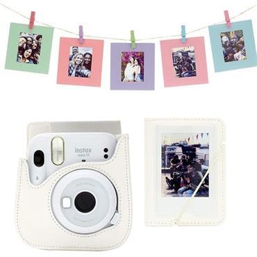 Instax Mini 11 Accessory Kit – Ice-White 3 Piece Gift Set