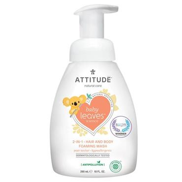 Attitude Baby Leaves 2-in-1 Hair and Body Foaming Wash Pear Nectar 295ml