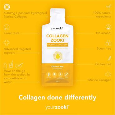 Liposomal YourZooki Collagen Zooki 14 x 15ml Pack