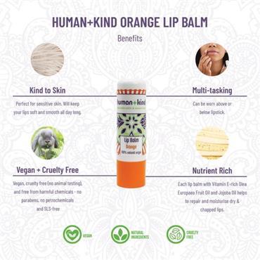 Human + Kind Lip Balm Orange