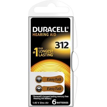 Duracell Hearing Aid Battery Brown 312