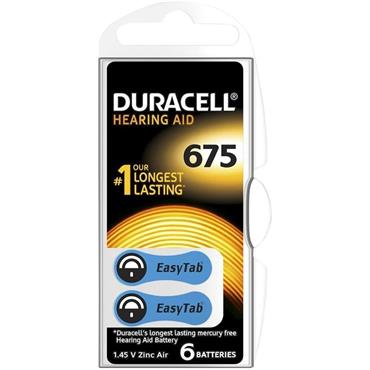 Duracell Hearing Aid Battery Blue 675