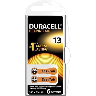 Duracell Hearing Aid Battery Orange 13