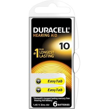 Duracell Hearing Aid Battery Yellow 10