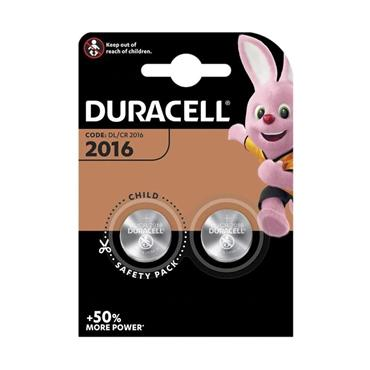 Duracell DL2016 Coin Cell Battery - Twin Pack