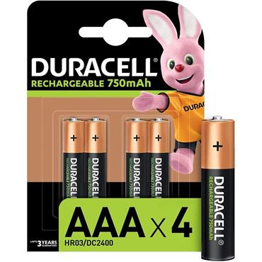 Duracell Rechargeable AAA - 4 Pack