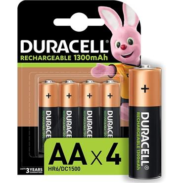 Duracell Rechargeable AA - 4 Pack