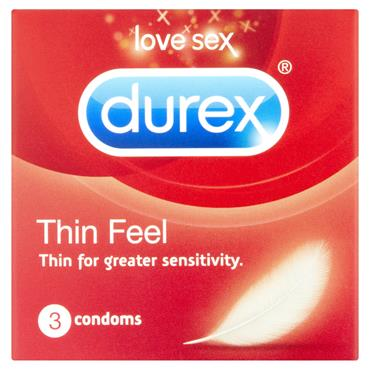Durex Thin Feel Condoms 3 Pack