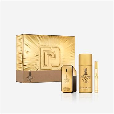 Paco Rabanne 1 Million 50ml Eau De Toilette + 10ml Eau De Toilette + 150ml Deodorant Spray Gift Set