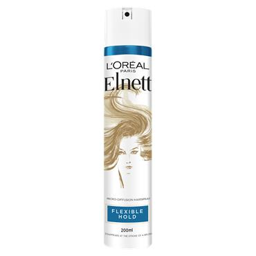 L'Oreal Paris Elnett Flexible Hold Shine Hairspray 200ml