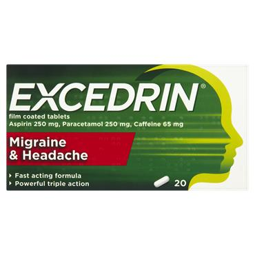 Excedrin Migraine & Headache Film Coated 20 Tablets