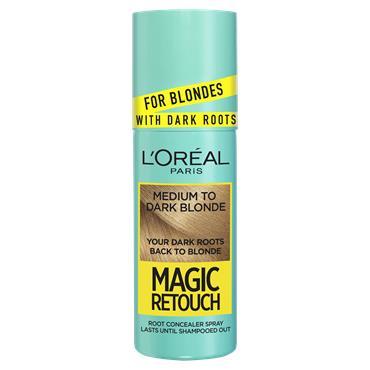 L'Oreal Paris Magic Retouch Medium to Dark Blonde Instant Dark Root Touch Up Spray 75ml