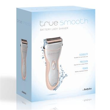 BaByliss TrueSmooth Wet & Dry Battery Lady Shaver | 8771BU