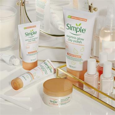 Simple Protect 'n' Glow detox & brighten clay mask 50ml