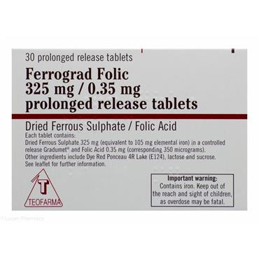 Ferrograd Folic 325/0.35mg Prolonged Release Tablets 30 Pack