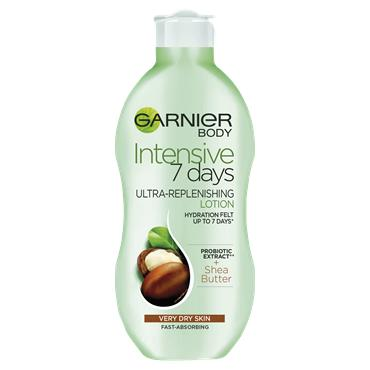Garnier Intensive 7 Days Shea Butter Probiotic Extract Body Lotion Dry Skin 250ml