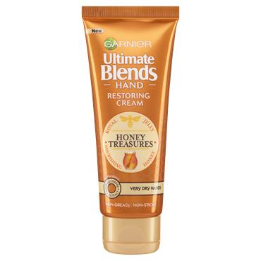 Garnier Ultimate Blends Restoring Nourishing Honey Hand Cream Dry Skin