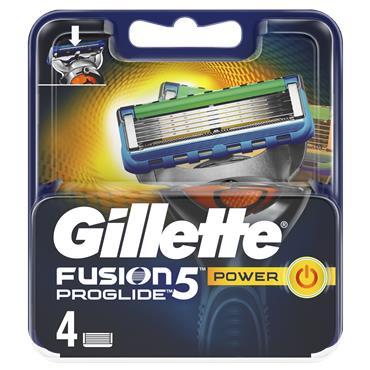 Gillette Blades Fusion5 Proglide Power Razor Blades (4 Pack)