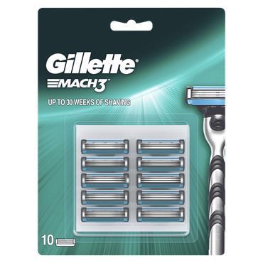 Gillette Blades Mach3 Razor Blades (10 Pack)