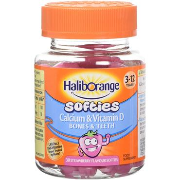 Seven Seas Haliborange Calcium and Vitamin D 30 Strawberry Softies