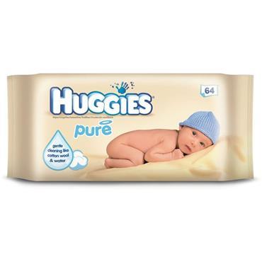 Huggies Pure Baby Wipes (64 Wipes)