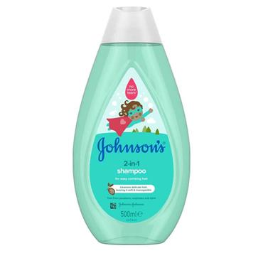 Johnsons 2 in 1 Shampoo 500ml