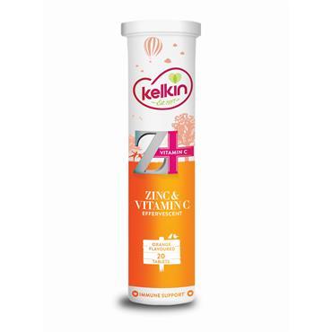 Kelkin Zinc & Vitamin C 20 Effervescent Tablets