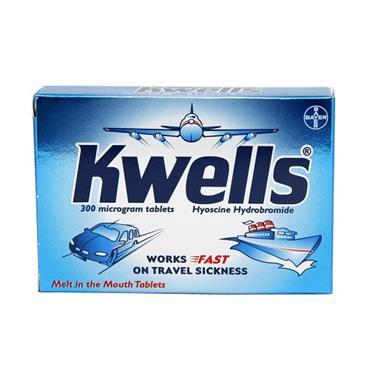 Kwells Hyoscine Travel Sickness Tablets 12 Pack