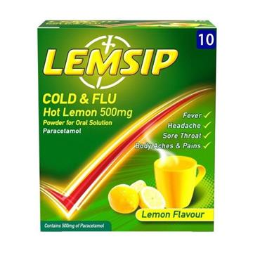Lemsip Cold & Flu 10 Sachets
