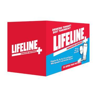 Lifeline Hangover Defence 20 Capsules