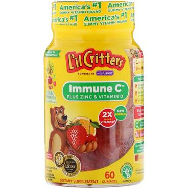 L'il Critters Immune C Plus Zinc and Vitamin D 60 Pack