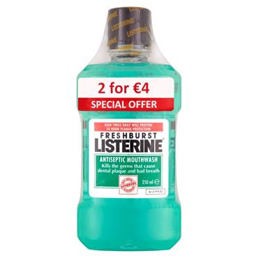 Listerine Fresh Burst 250ml Duo Pack2 x 250ml