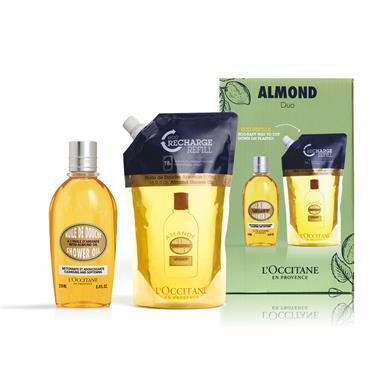 L'Occitane Almond Shower Oil & Refill Duo
