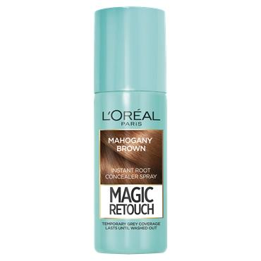 L'Oreal Paris Magic Retouch Mahogany Brown Temporary Instant Grey Root Concealer Spray 75ml